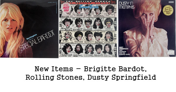 rare records - brigitte bardot, rolling stones, dusty springfield
