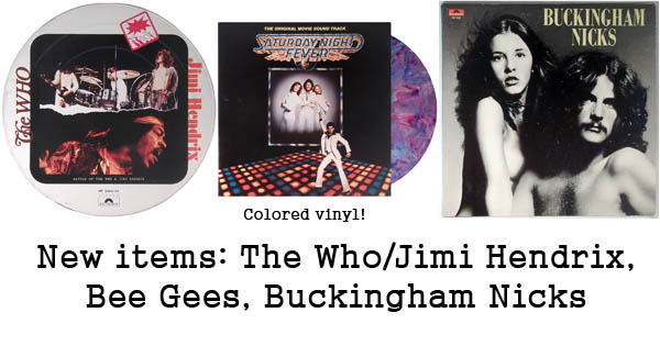 the who, jimi hendrix, bee gees, buckingham nicks
