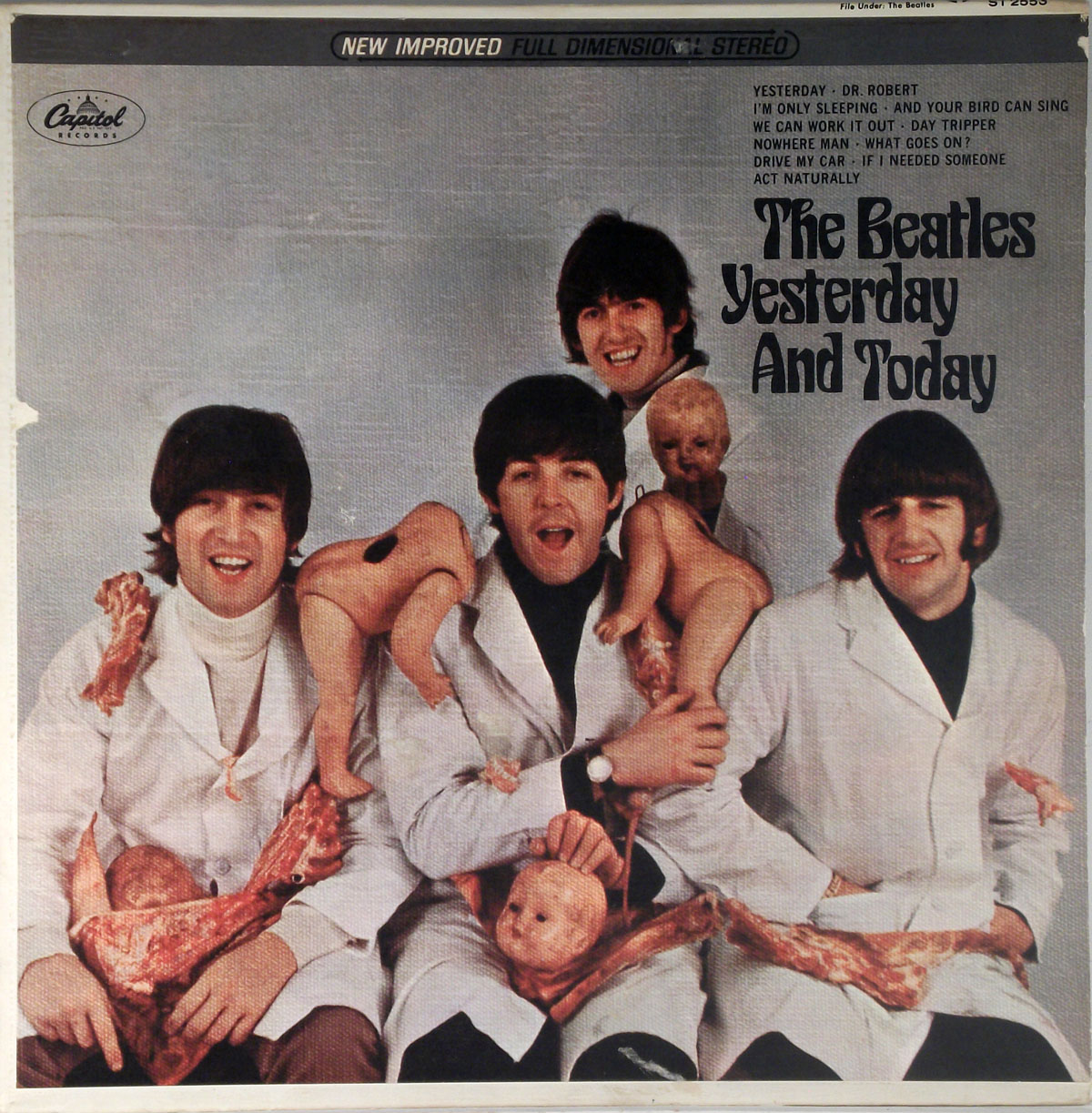 butcher cover the beatles yesterday and today. Black Bedroom Furniture Sets. Home Design Ideas