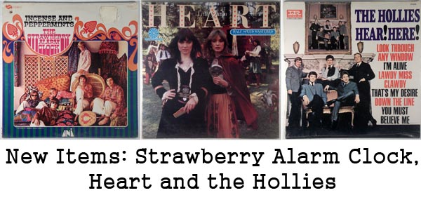 rare records - strawberry alarm clock, heart, hollies