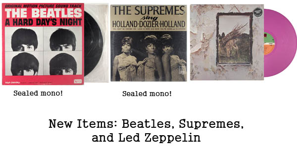 rare records - beatles, supremes, led zeppelin