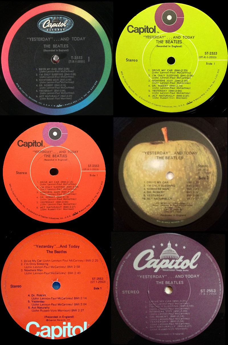 One album, 6 labels. One is worth $10; one is worth $10,000!