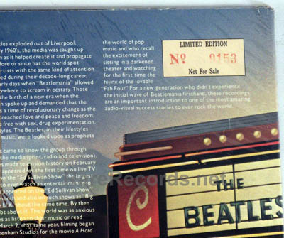 A numbered, limited edition Beatles album.