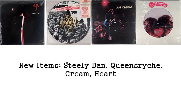 new items, rare records, steely dan, queensryche, cream, heart