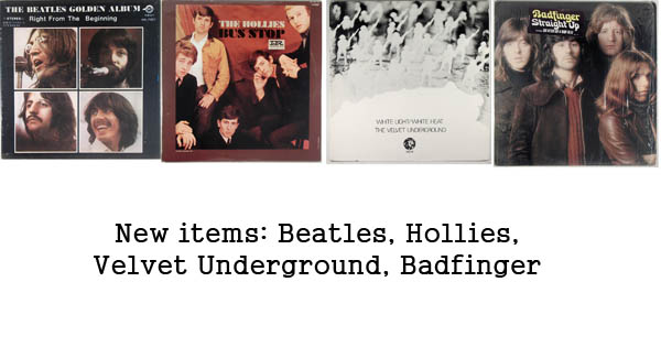 rare records - beatles, hollies, velvet underground, badfinger