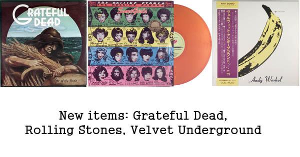 rare records - rolling stones, grateful dead, velvet underground