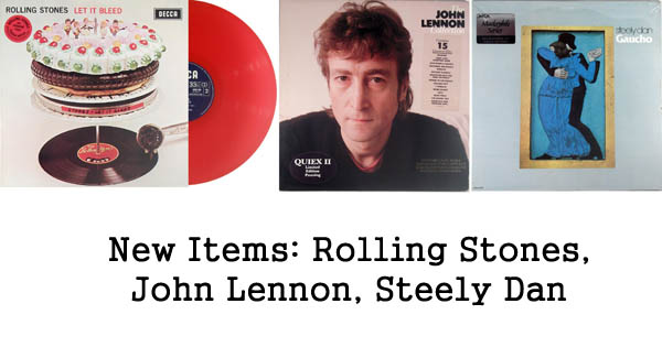 new items - rolling stones, steely dan, john lennon