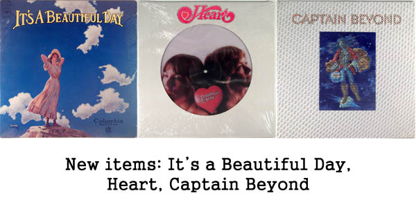 rare records, it's a beautiful day, captain beyond, heart