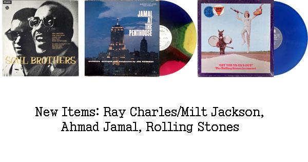 rare records - ahmad jamal, milt jackson, ray charles rolling stones