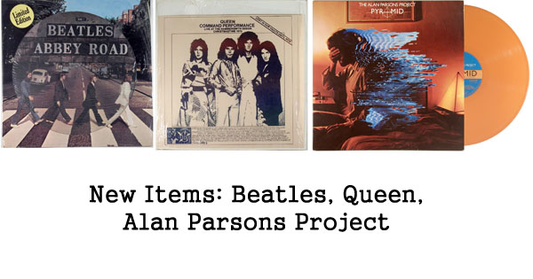 new items, rare records, alan parsons, beatles, queen