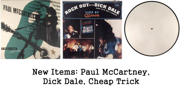 new items rare records, paul mccartney, dick dale, cheap trick