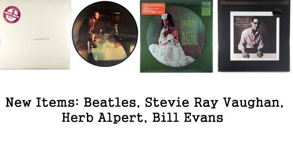 new items rare records, beatles, stevie ray vaughan, herb alpert, bill evans