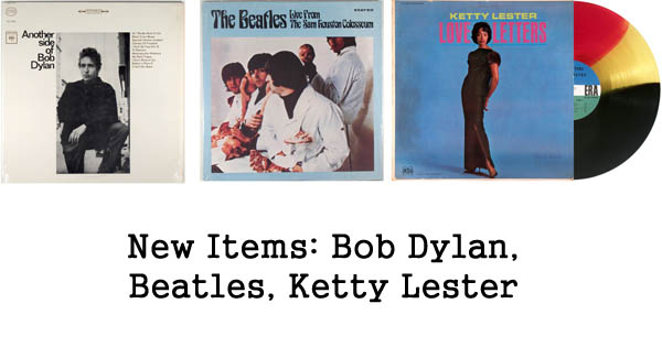 new rare records - bob dylan, beatles, ketty lester