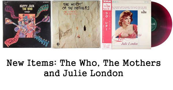new rare records - julie london, the who, mothers