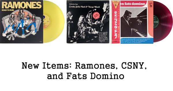new rare records - ramones, csny, fats domino
