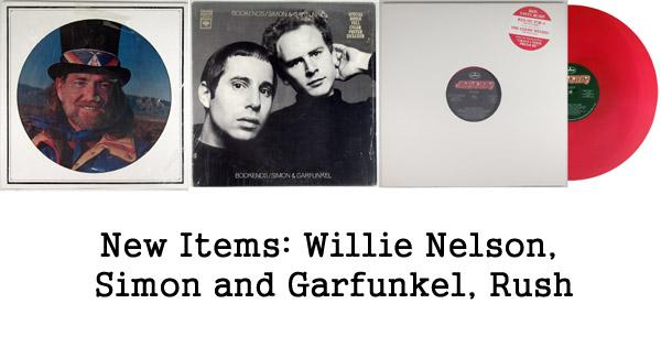 rare records - simon and garfunkel, willie nelson, rush