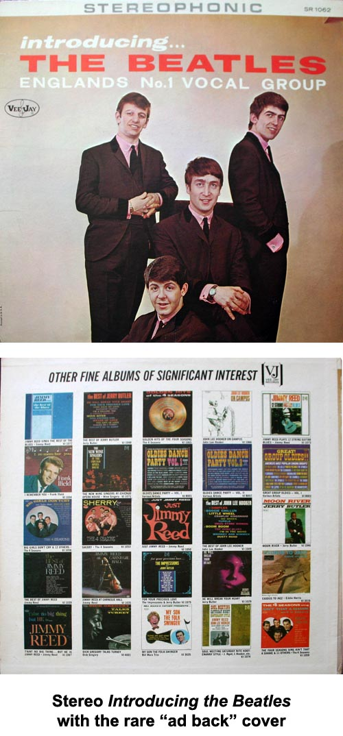 "Introducing the Beatles stereo with ""ad back"" cover"