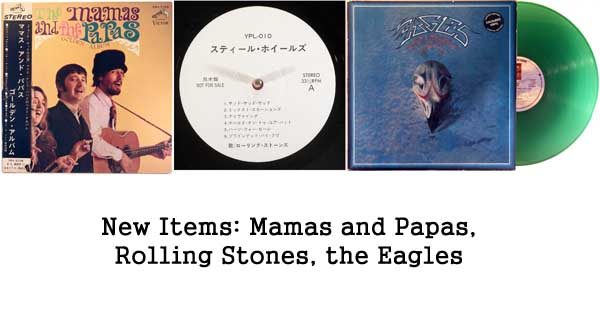 new rare records - mamas and papas, rolling stones, eagles