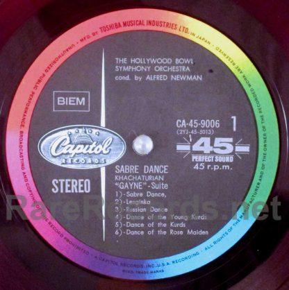 alfred newman/khachaturian - sabre dance japan red vinyl lp