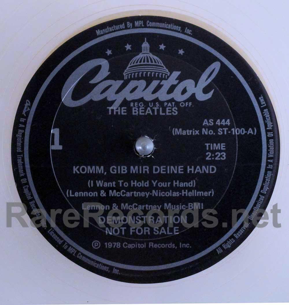 """beatles clear vinyl german 12"""""""