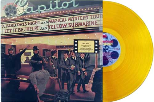 beatles - reel music yellow vinyl promo lp