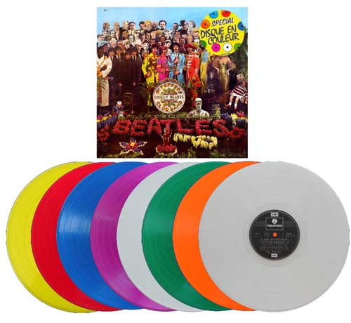 beatles colored vinyl albums sgt pepper france