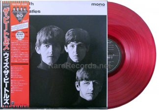 beatles - with the beatles red vinyl mono japan lp