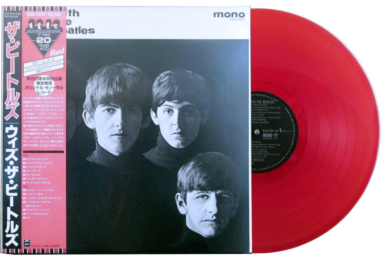 beatles - with the beatles red vinyl japan lp
