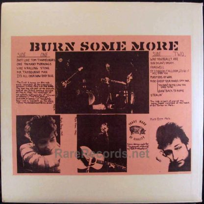 bob dylan - burn some more tmoq LP