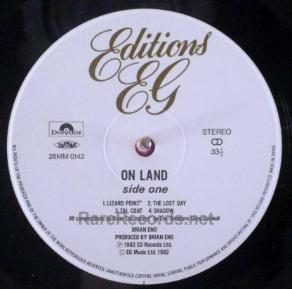 brian eno - ambient 4 on land japan lp