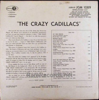 the crazy cadillacs LP