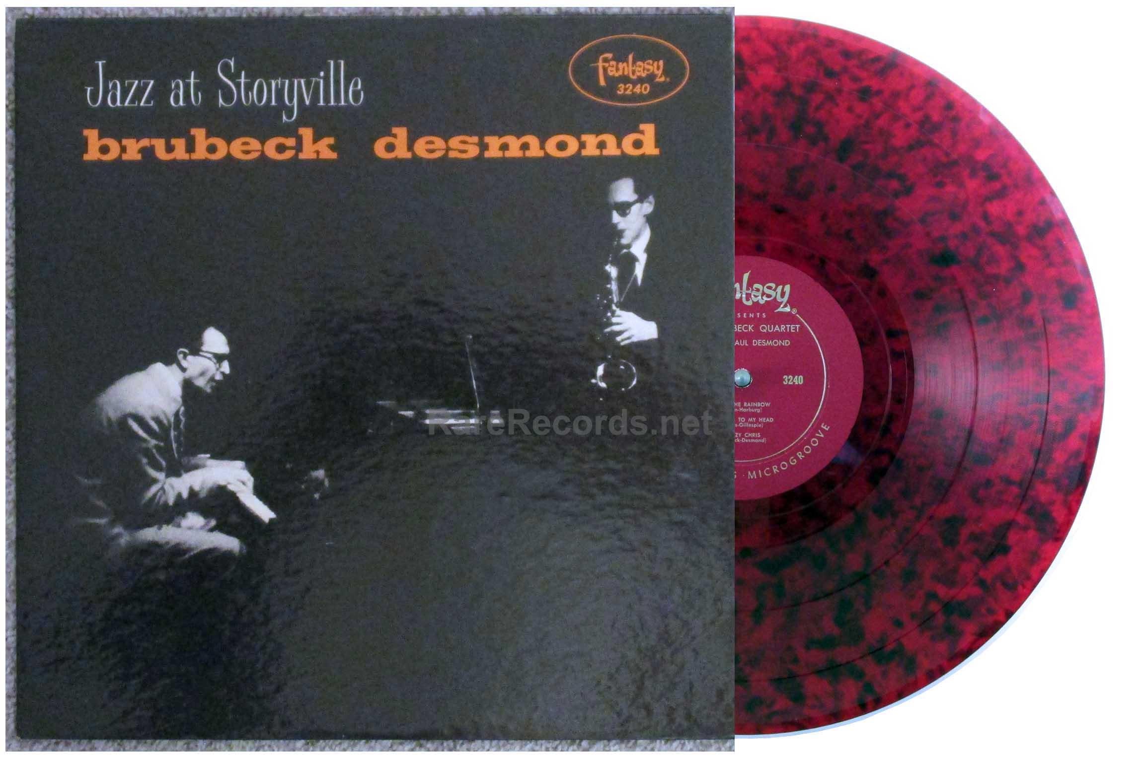 dave brubeck/paul desmond - jazz at storyville red marbled vinyl U.S. lp