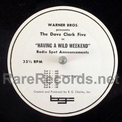 dave clark five - having a wild weekend radio spots lp