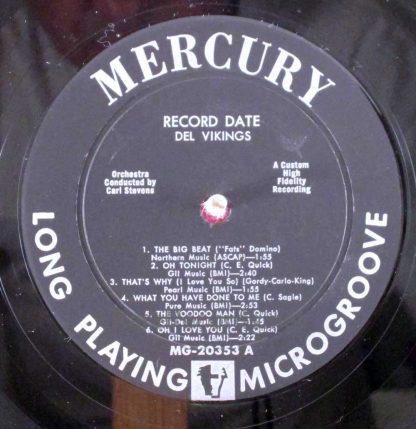 del vikings - singing, swinging recording session LP