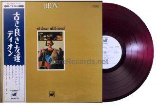 dion - sit down old friend japan red vinyl promo lp