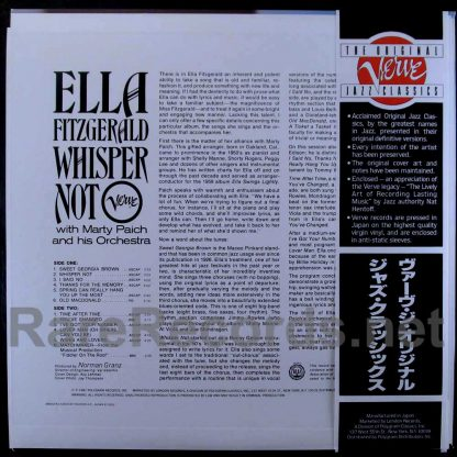 ella fitzgerald -whisper not japan lp