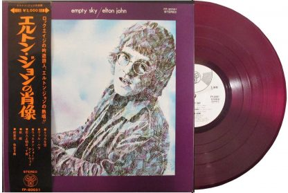 elton john - empty sky red vinyl japan promo lp