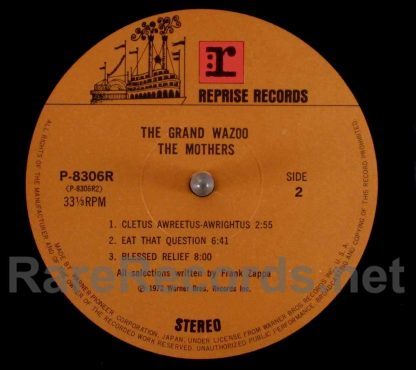 frank zappa - the grand wazoo japan lp