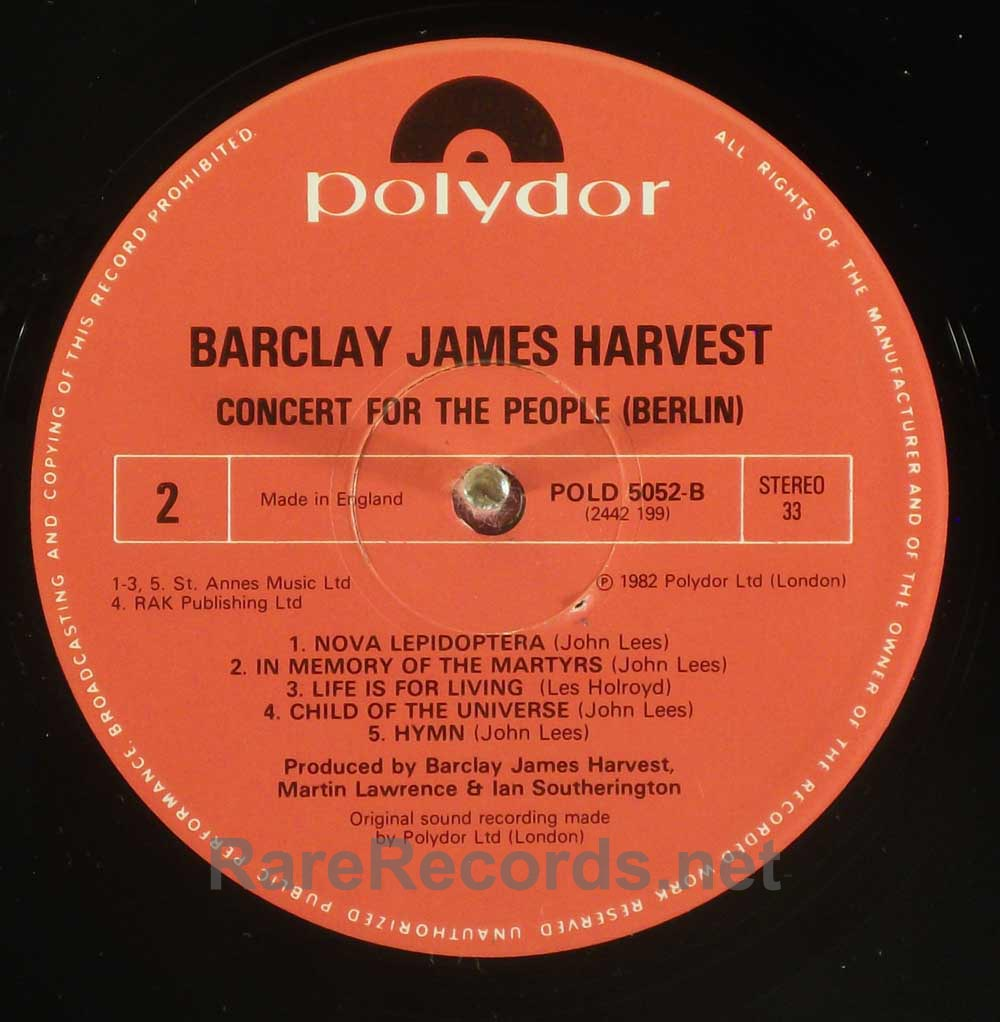 Barclay James Harvest - A Concert for the People 1982 UK LP