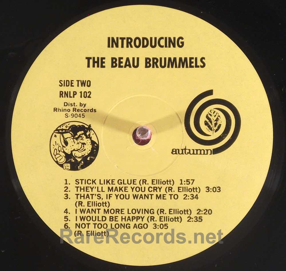 Beau Brummels - Introducing 1982 Rhino reissue LP