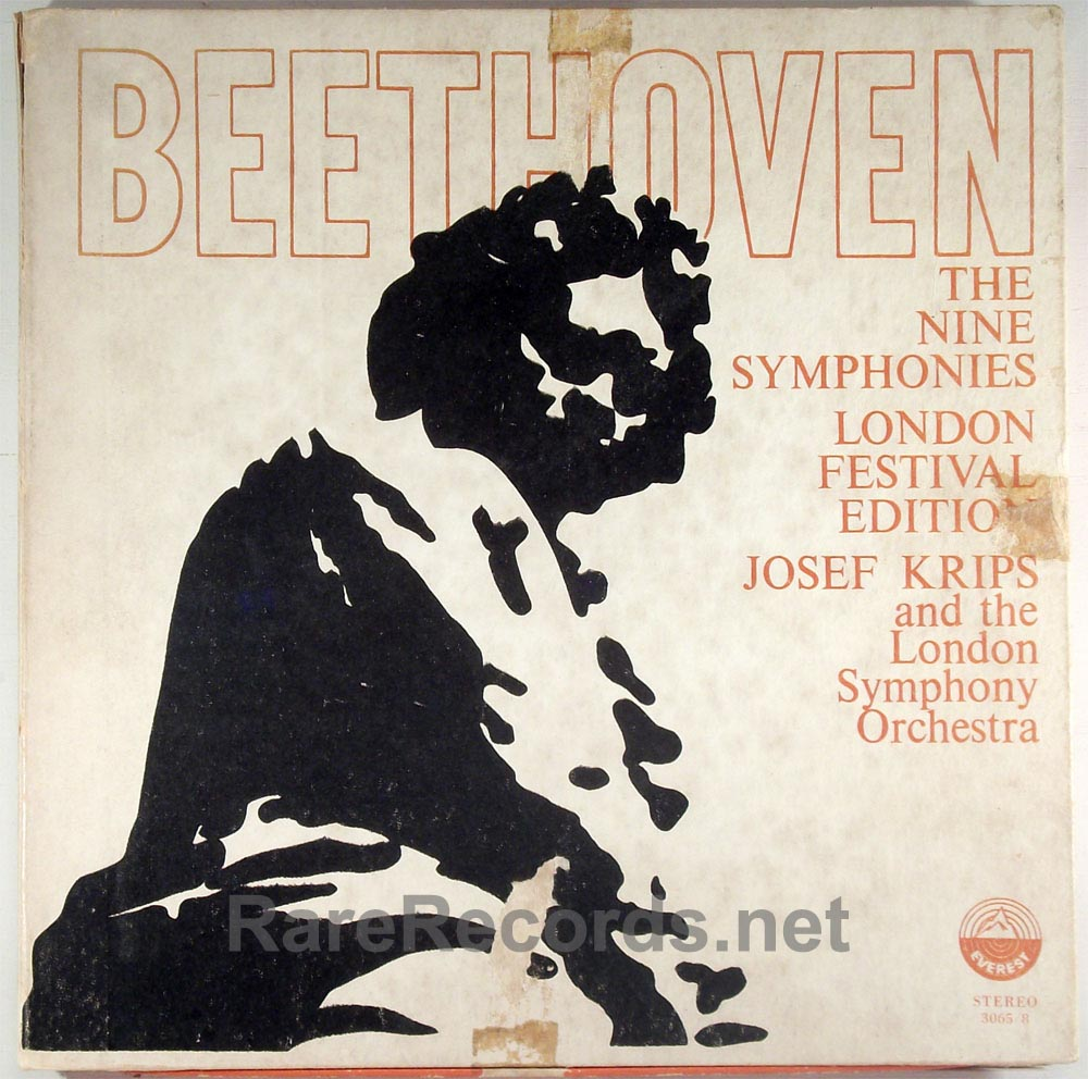 Josef Krips Beethoven Symphonies Everest 8 LP box set