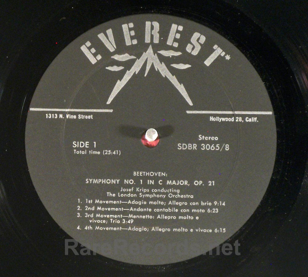 Josef Krips Beethoven Symphonies Everest 8 LP box set