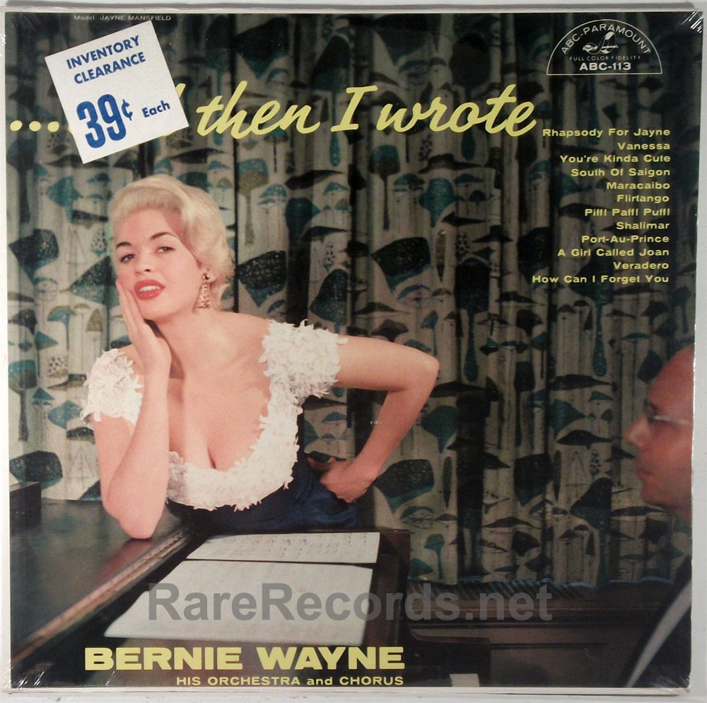(Jayne Mansfield) Bernie Wayne - And Then I Wrote sealed 1956 LP