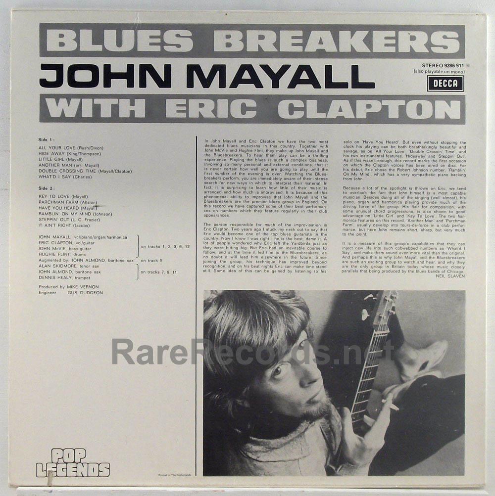 John Mayall & Eric Clapton - The Bluesbreakers Dutch LP