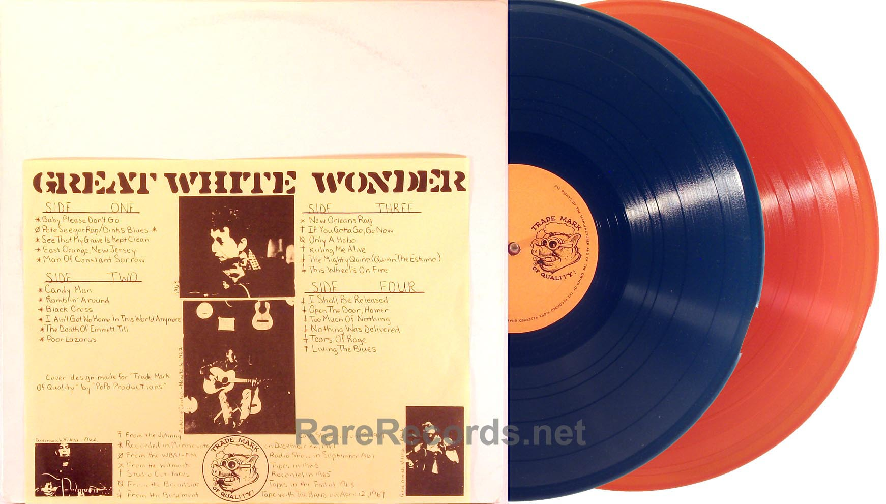 Bob Dylan - Great White Wonder orange/blue vinyl 2 LP TMOQ LP