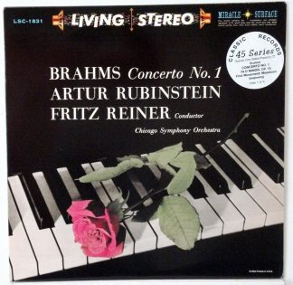 Brahms Concerto #1 - Reiner/CSO Classic Records 4 LP 45 RPM set