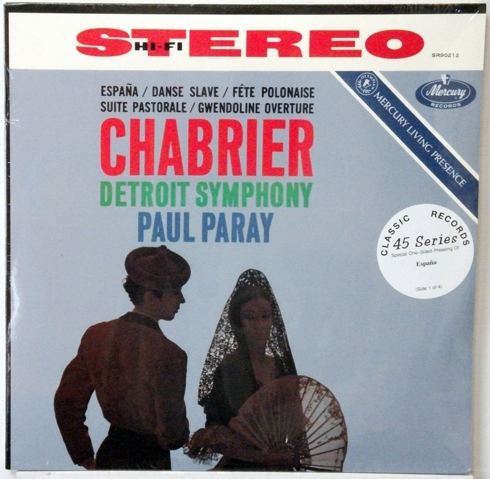 Chabrier - Detroit Symphony sealed Classic Records 4 LP 45 RPM set