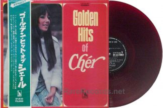 Cher - Golden Hits of Cher original 1967 red vinyl Japan LP with obi
