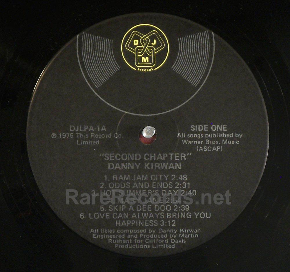 Danny Kirwan - Second Chapter scarce 1975 U.S. LP