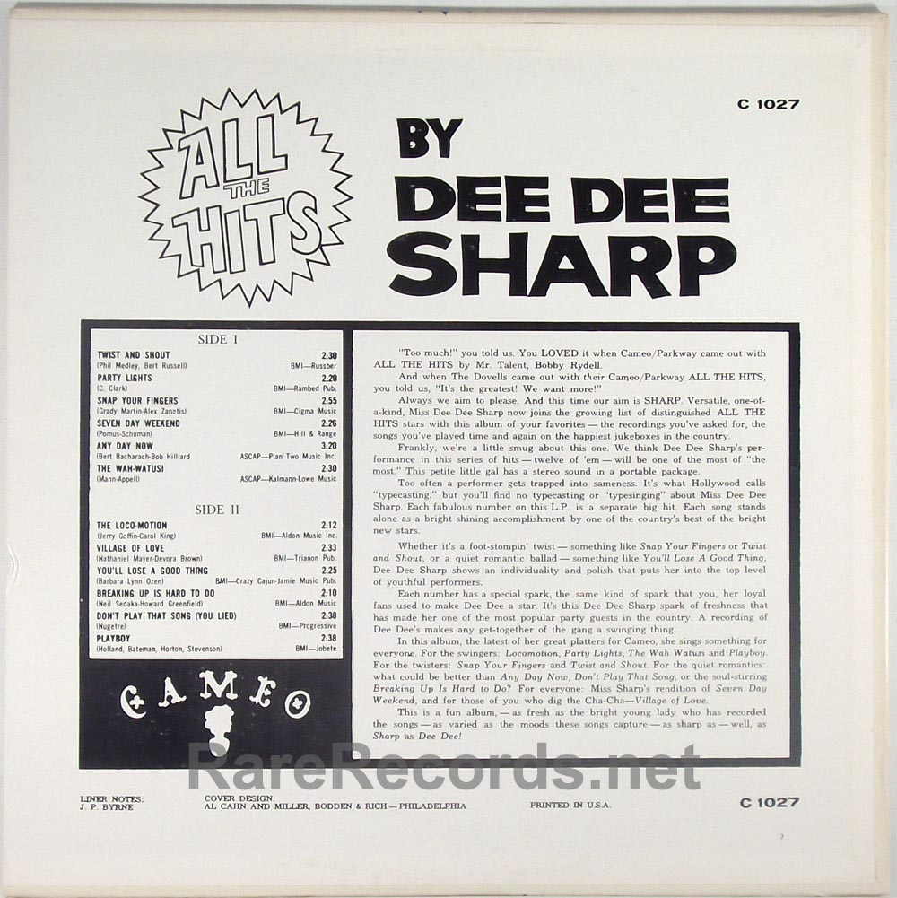 Dee Dee Sharp - All the Hits sealed mono 1963 LP